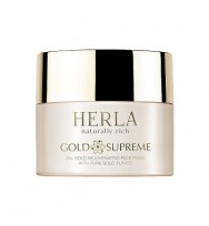 Herla Gold Supreme 24k Gold Rejuvenating Face Mask - maska z płatkami złota ważna do 09.21